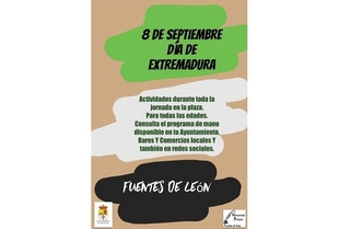 Entrega de medallas y muestra gastronómica entre las actividades por el Día de Extremadura en Fuentes de León