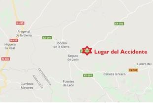 Fallece un motorista de 41 años en un accidente en Segura de León