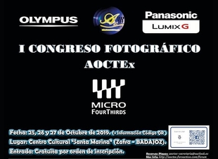 Vitaldent Zafra patrocina dos talleres del I Congreso Fotográfico Internacional AOCTEx del Sistema Micro 4/3 en Zafra