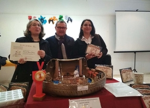 El Portal de `El Arca de Belén´ realizado por tres personas de Calera de León recibe el primer premio del Concurso `Montatubelén´