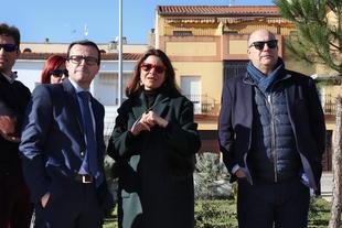 El presidente de la Diputación visita las actuaciones ejecutadas con el Plan Dinamiza en Fregenal de la Sierra