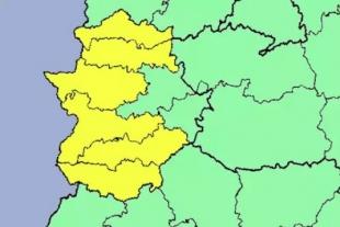 El 112 activa la alerta amarilla para mañana martes por fuertes tormentas, viento y granizos