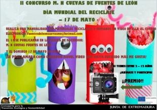 Abiertas las votaciones del concurso M. N. Cuevas de Fuentes de León de manualidades con materiales reciclados
