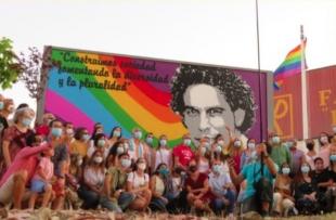 Monesterio dedica un mural a Pedro Zerolo en el parque de Las Moreras