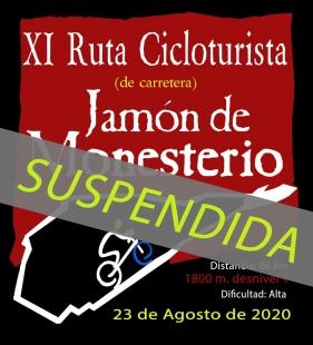 Suspendida la XI Ruta Cicloturista `Jamón de Monesterio´