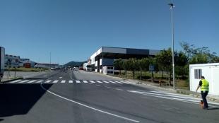 La Diputación finaliza las obras de mejora en el polígono industrial 'El Alcornocal' en Monesterio