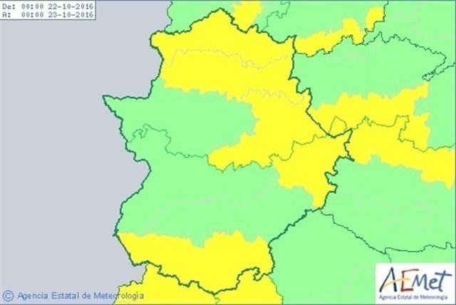 Nuestra comarca en alerta amarilla hoy sábado por lluvias