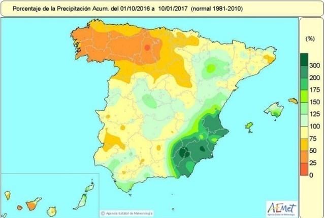 La mitad sur de Extremadura, entre las zonas españolas más afectadas por escasez de lluvia