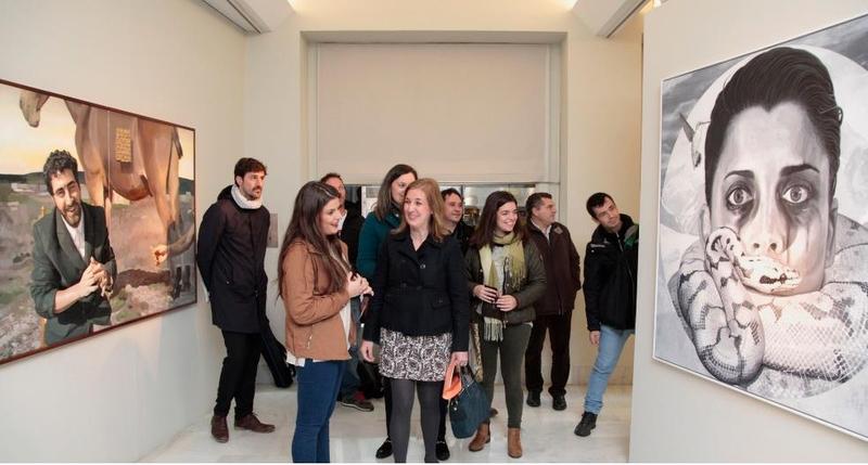 Inaugurada la exposición con las obras finalistas del XXII Premio de Pintura ''Francisco de Zurbarán''