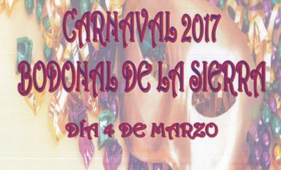 Concurso de disfraces y cartel del Carnaval 2017 en Bodonal de la Sierra