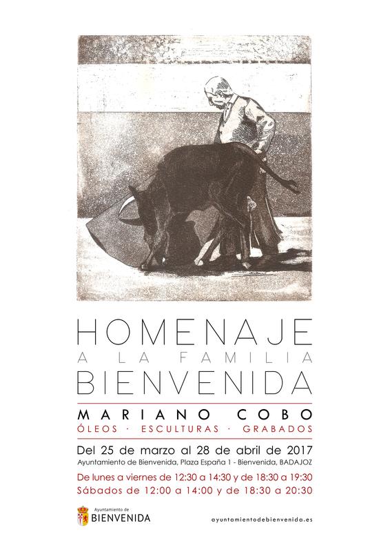 """Exposición """"Homenaje a la Familia Bienvenida"""", del artista cántabro Mariano Cobo en Bienvenida"""