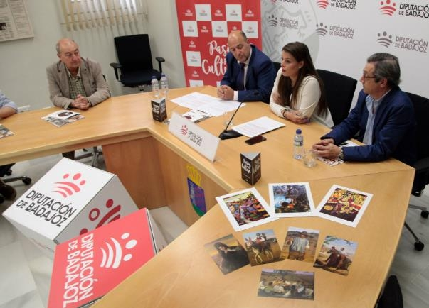La Diputación de Badajoz rinde homenaje a los pintores de Segura de León, Pérez Jiménez y Guillermo Silveira