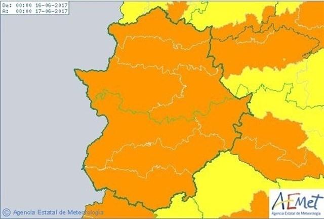 Alerta naranja hasta el sábado con máximas de 40 grados en la comarca de Tentudía