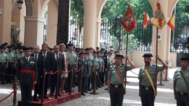 Manuela Chavero presente en la toma de posesión del nuevo jefe de la Guardia Civil en Extremadura