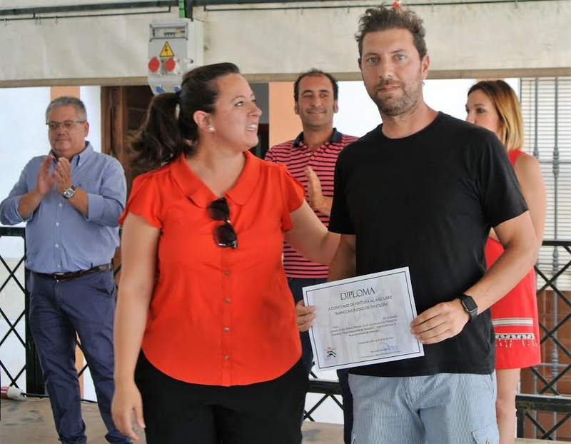 El frexnense F.Javier Fernández vencedor del X Concurso de Pintura al Aire Libre de la Mancomunidad de Tentudía