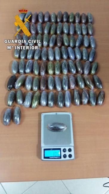 La Guardia Civil detiene en Fuente de Cantos a cuatro personas por tráfico de drogas