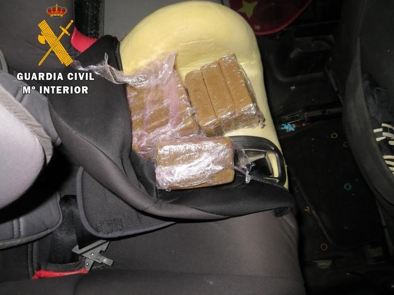 Dos detenidos por la Guardia Civil en Monesterio por tráfico de drogas