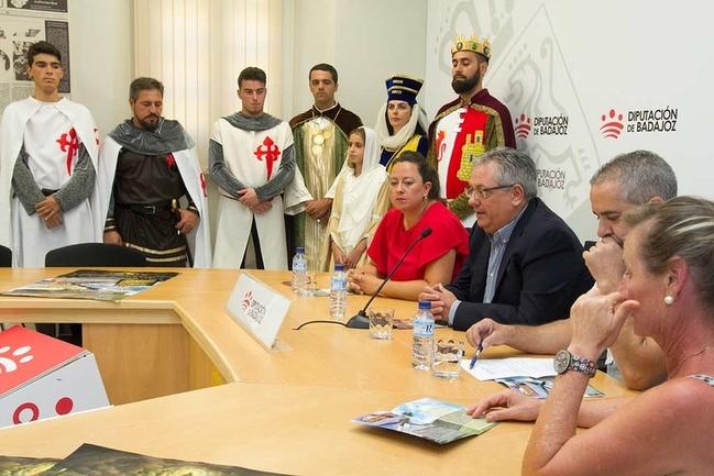 Presentada en Diputación la ''V Recreación de la Batalla de Tentudía'' de Calera de León