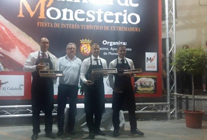 Conocidos los ganadores del ''XIX Concurso de Cortadores de Jamón'' de Monesterio