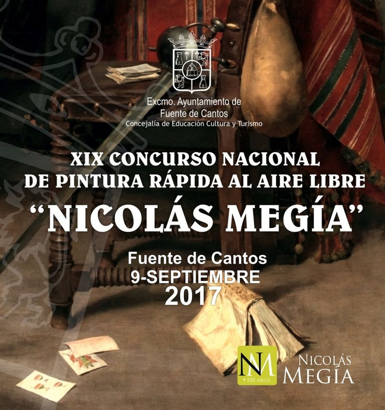 Fuente de Cantos celebrará el XIX Concurso Nacional de Pintura al Aire Libre ''Nicolás Megía'' en el mes de septiembre