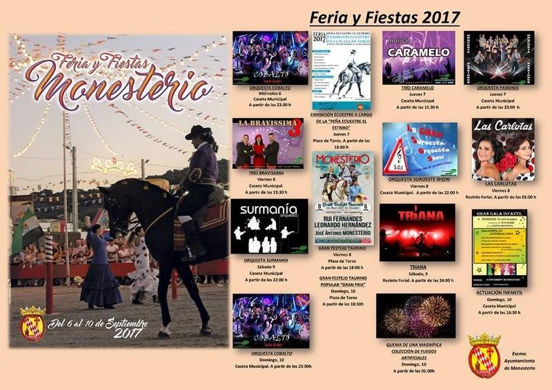 Monesterio presenta su ''Programa para la Feria y Fiestas'' de septiembre
