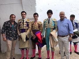 Juan Luis Moreno, alumno de la Escuela Taurina de Badajoz, debutó con caballos en la Plaza de Toros de Fregenal