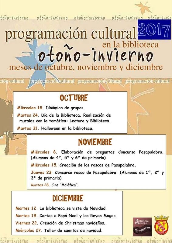 La biblioteca Cervantes de Monesterio presenta su programación cultural otoño-invierno