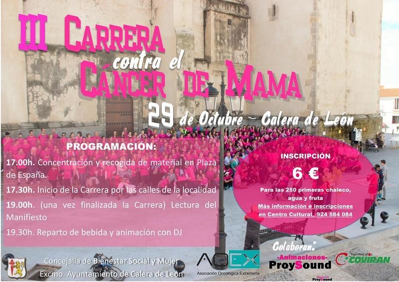 ''III Carrera contra el Cáncer de Mama'' en Calera de León