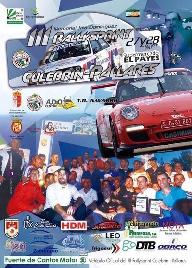 El ''III RallySprint'' Culebrín-Pallares se celebrará este mes de octubre
