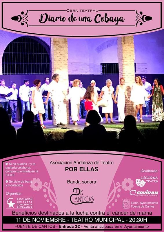Representación teatral solidaria en Fuente de Cantos