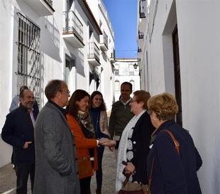 Monago ha visitado la localidad de Fregenal de la Sierra este martes