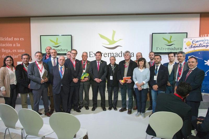 CEDECO-TENTUDÍA presente en FITUR en el acuerdo para fortalecer y promocionar la Vía de la Plata y el Camino Mozárabe.