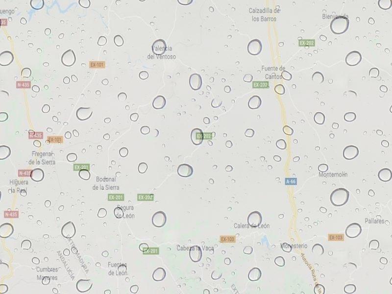 Anuncian lluvias abundantes en el sur extremeño a partir de este lunes