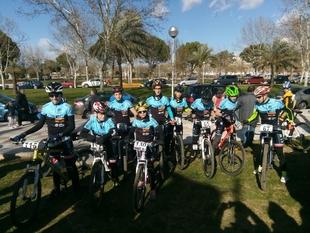 La Escuela Ciclista Puerto Lobo-Sierra de Tentudía debutó este sábado en Don Benito