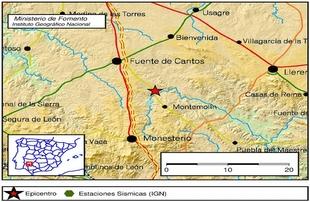 Terremoto leve en Montemolín a primera hora de la mañana de hoy