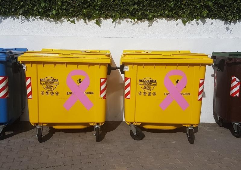 Montemolín donará sus ingresos por la línea amarilla de contenedores a la lucha contra el cáncer