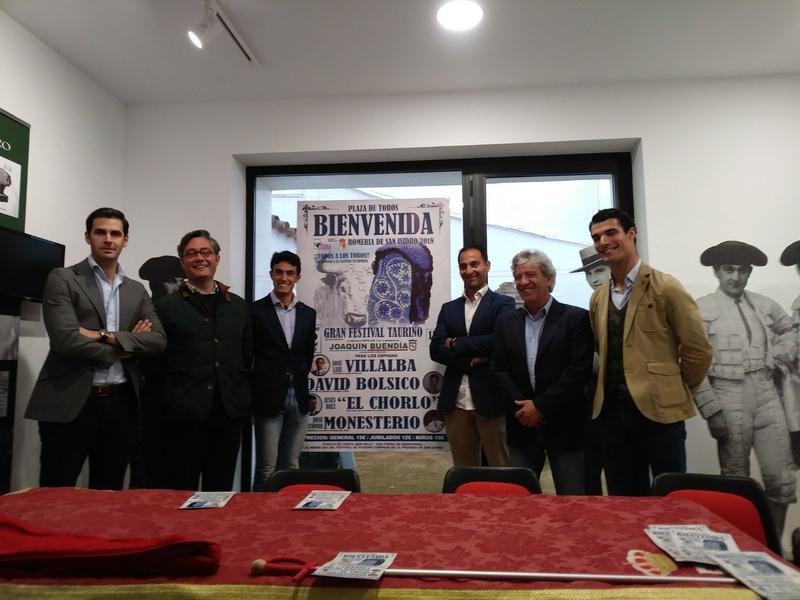 Presentado el cartel del festival taurino de Bienvenida con motivo de San Isidro 2018