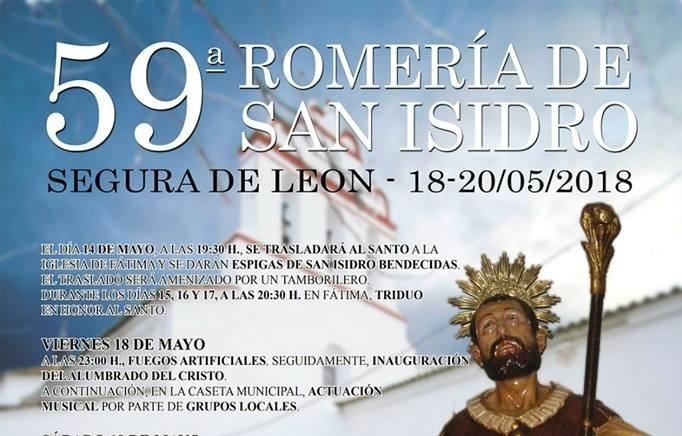 Segura de León celebra su 59 Romería de San Isidro