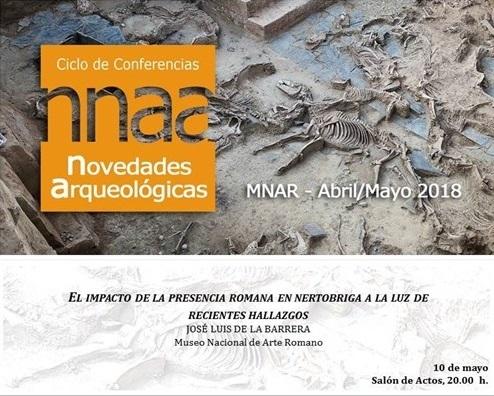 José Luis de la Barrera ofrecerá una conferencia sobre el yacimiento de Nertobriga en Mérida