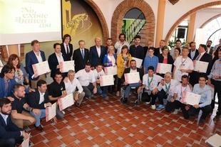 Premio especial Gracias a Manuel Toro de Fuente de Cantos, en los Premios Espiga del Deporte