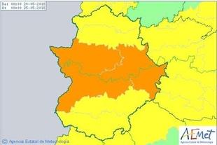 El 112 activa alertas naranja y amarillas por tormentas y lluvias para este jueves