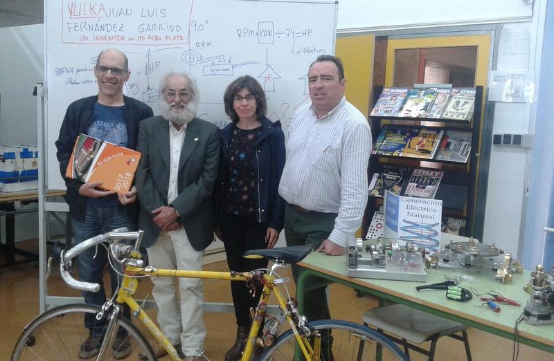 Un inventor en el IES Alba Plata de Fuente de Cantos
