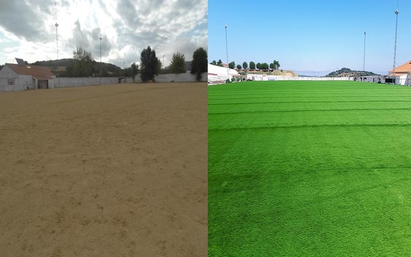 El nuevo campo de fútbol de Segura de León se inaugurará el 12 de agosto
