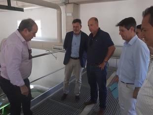 José Luis Andrade anuncia la apertura de la nueva depuradora en Segura de León