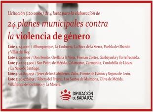 22.829,95 euros para Segura de León, Fuente de Cantos, Jerez y Zafra contra la Violencia de Género