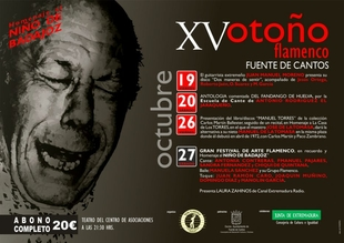 Fuente de Cantos presenta la XV edición del Otoño Flamenco