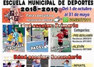 Cabeza la Vaca presenta las actividades de la `Escuela Municipal de Deportes 2018-2019´