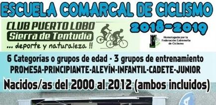 La Escuela Comarcal de Ciclismo publica las bases de la temporada 2018-2019