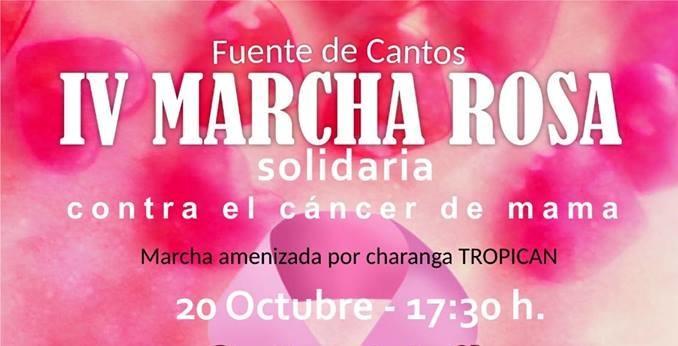 El Grupo de `Voluntariado AOEX de Fuente de Cantos´ celebra la `IV Marcha Rosa´ Contra el Cáncer de Mama