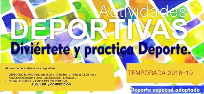 El Excmo. Ayuntamiento de Fuente de Cantos presenta el Programa de Actividades Deportivas de la temporada 2018-2019